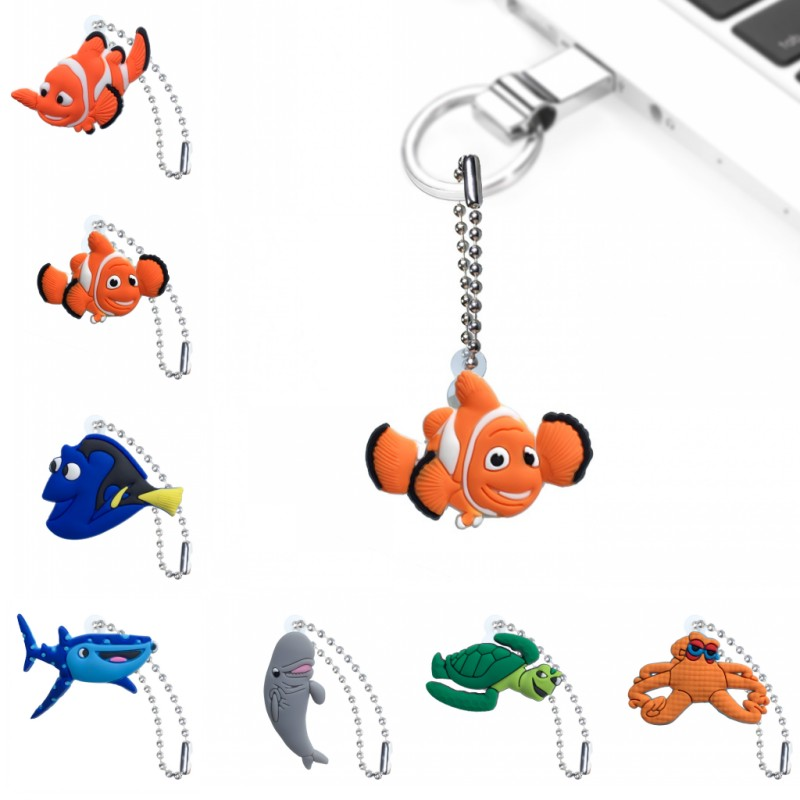 1PCS Finding Nemo Keychain Organizer Key Holder Cartoon Figure Key Ring Children DIY Bag Clothes Decor Party Gifts