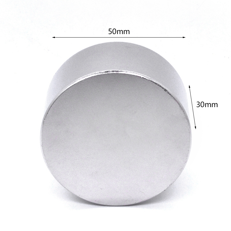 Image 4 - 1Pcs N52 Neodymium Magnet 50X30Mm Gallium Metal Super Strong Magnets 50x30 Big Round Powerful Permanent Magnetic 50 X 30 Magne-in Magnetic Materials from Home Improvement