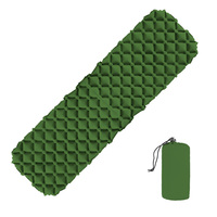 Inflatable Sleeping Pad Camping Mat Nylon TPU Pillow Air Mattress Cushion Air Sofas With Storage Bag