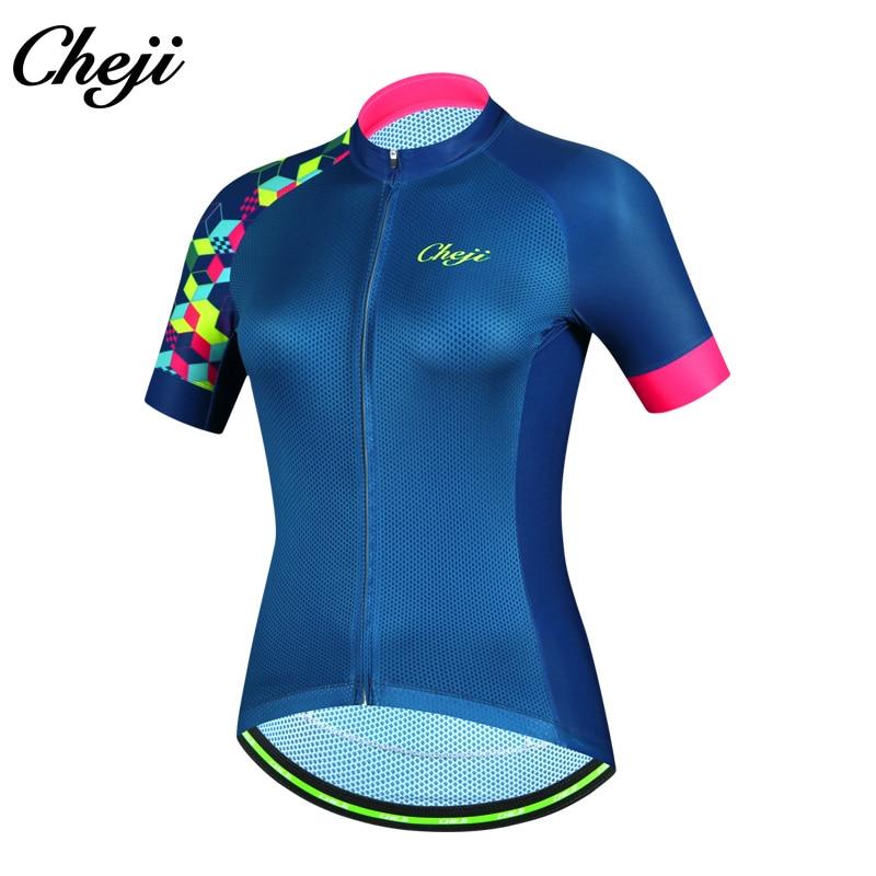 Detail Feedback Questions about CHEJI New Arrival Women Bicycle Jersey  Short Sleeves MTB Road Bike Shirt YKK Zipper Cycling Clothing Ropa De  Ciclismo 2018 ... 617944c26
