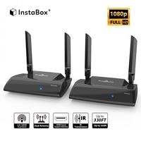 InstaBox Игра теней SP2 HD 1080 P 2,4/5,0 ГГц 330Ft Беспроводной передатчик и приемник Kit, сигнал HDMI удлинитель с ИК передачи