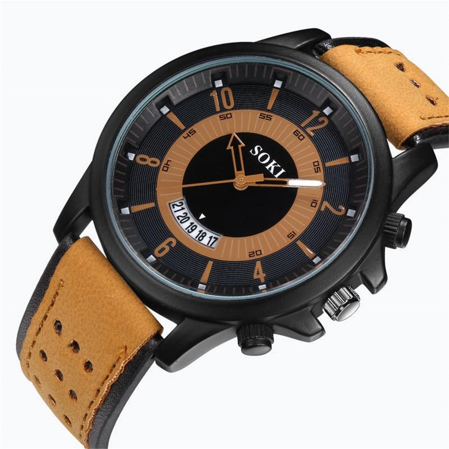 e68538073eb SOKI Relógio Moda Homens Casual relógio de Alta Qualidade Relógio de  Quartzo Analógico relógio de Pulso dos homens do Esporte Militar Erkek Kol  Saati ...