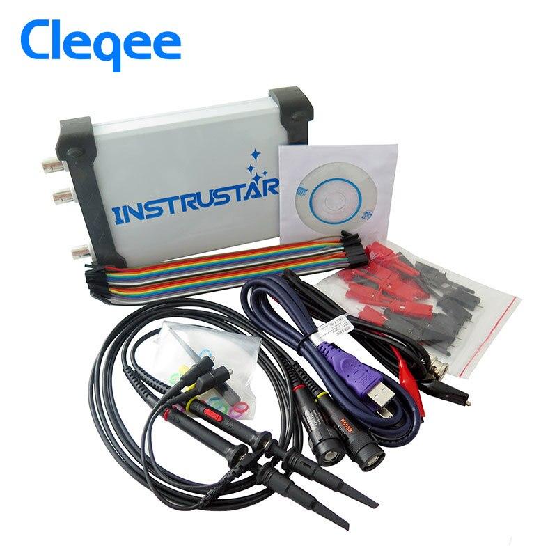 ISDS205X Virtual PC USB sinal DDS osciloscópio e analisador lógico 2CH 20 mhz largura de banda 48MSa/s 8bit ADC FFT analisador