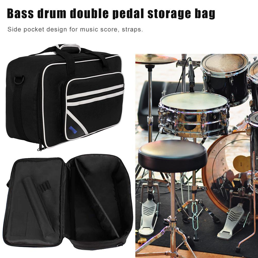 Jazz Drum Percussion Bag Double Pedal Pack Instrument Storage Bag Carrying Bag Bass Drum Double Pedal Pack Percussion Drum Bag