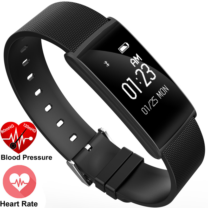 SGN108 0 96inch OLED Blood Oxygen Blood Pressure Silver Black Gold Heart Rate Sleep Monitor Smart