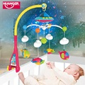Baby bed bell  year old newborn toy  months rotating  music bed hanging baby rattle  Newborn Kids Christening gift