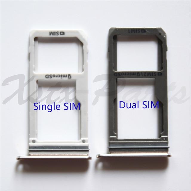 S7 Edge Sd Karte.Neue Dual Sim Einzelne Sim Micro Sd Karte Halter Für Samsung Galaxy S7 G930f S7 Rand G935f Oem Sim Karte Tray Slot Ersatz Teil