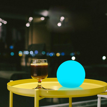 Romantic Remote Control LED Ball light Indoor Home Table Lamp Garden Lawn Light Wedding Party illuminated Globe Bar Decoration free shipping waterproof led 25cm round ball light luminous colorful globe night light remote control light for indoor outdoor