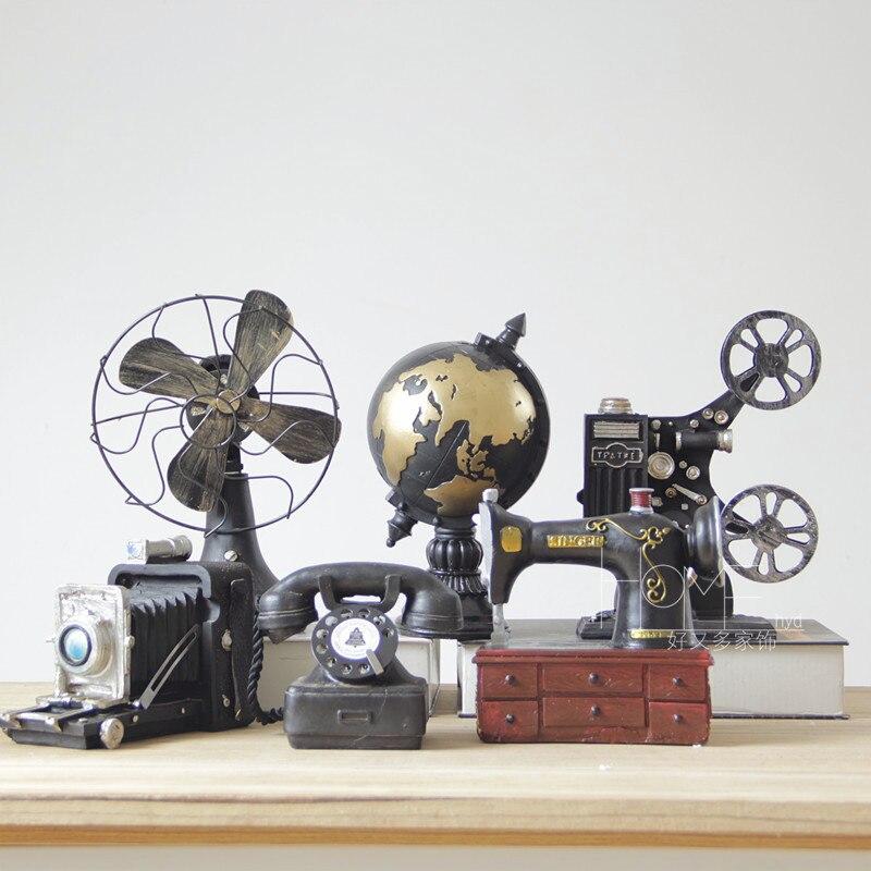 XXXG americký telefon model pryskyřice retro fotoaparát ventilátor domácí vybavení staré dekorace dekorace