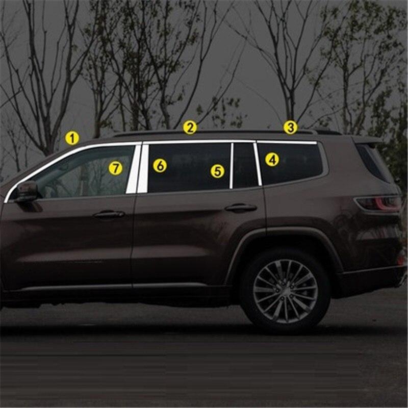 Fenêtre arrière essuie-glace porte poignée Automobile Auto modifié voiture style protecteur pièces couvre 18 19 pour JEEP Grand commandant