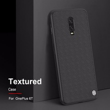 Case for Oneplus 6T NILLKIN Textured Nylon fiber case back cover for Oneplus 6T One plus 6T durable non-slip Thin and light