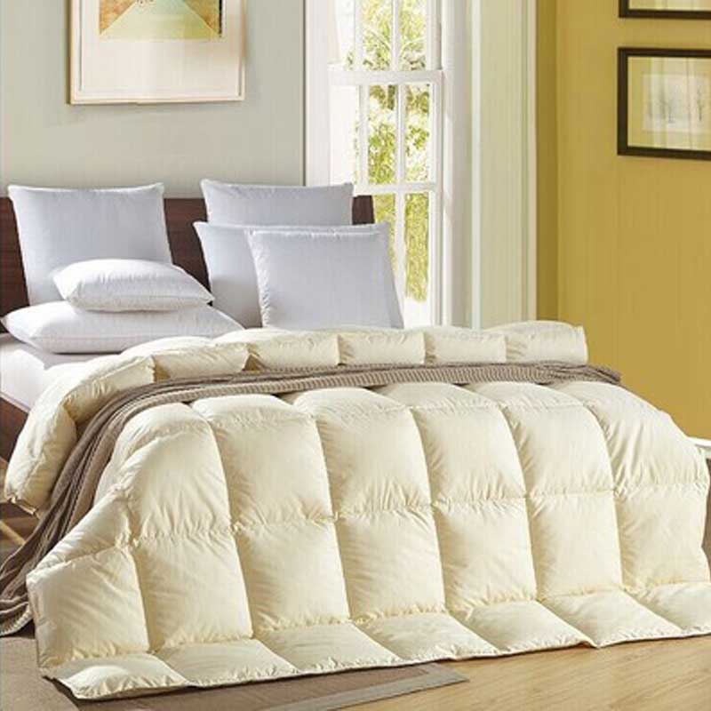 winter goose down filler quilt king queen twin size 100 cotton
