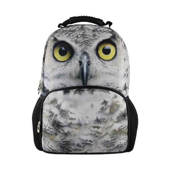 FORUDESIGNS Fashion Children School Bags For Boys,3D Animal Teenagers Schoolbag,Owl Mochila School Kids Bookbag With Dinosaur