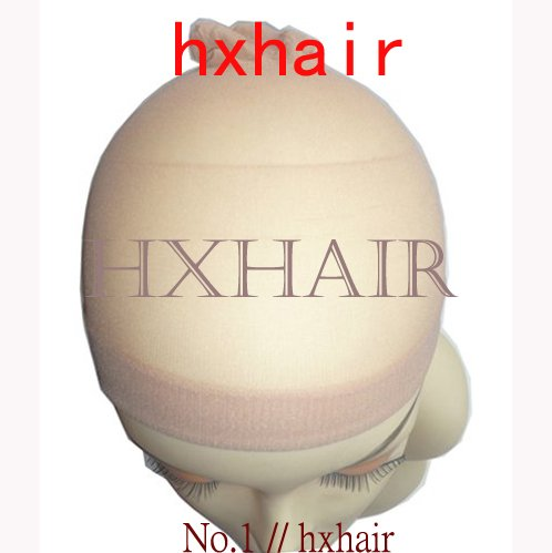 Freeshipping 2pcs No 1 Hairnets Wigs Cap Women s Accessories Wigs Mesh Weaving Black Beige