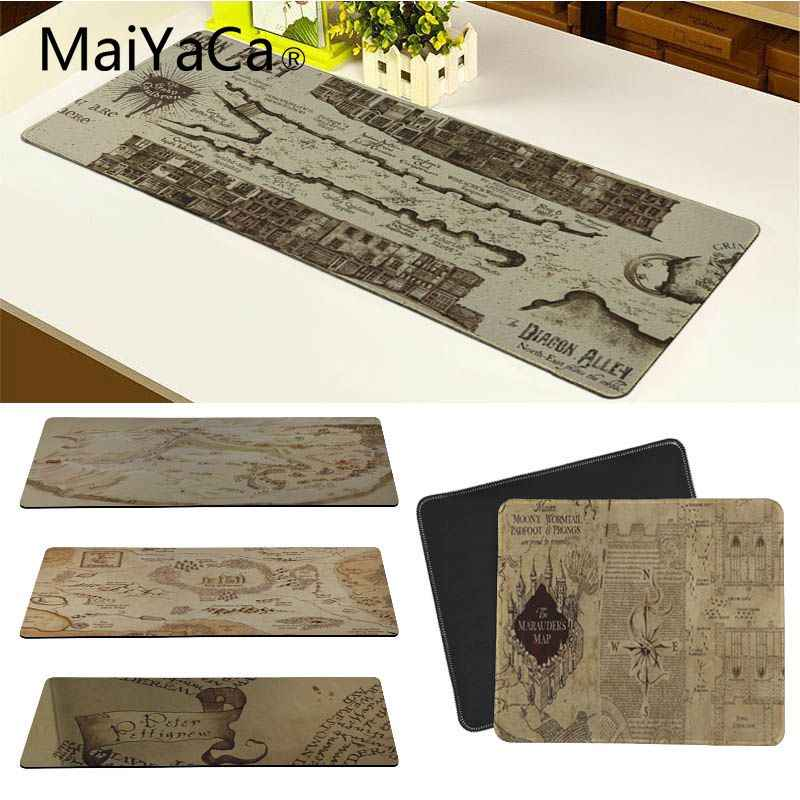 MaiYaCa Fresco Harry Potter Marauders Map Durável Tapete de Borracha do Mouse Pad Mais Mais Espessa e Borda de Travamento para Laptop Computador Desktop