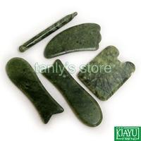 Gift Gua Sha Chart Beauty Bag Traditional Acupuncture Massage Tool Guasha Beauty Kit 5pcs Set Pen