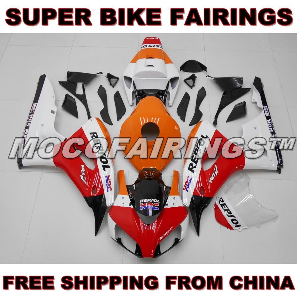 For Honda CBR1000RR 2006 2007 Motorcycle Fairing Kit 06 07 CBR1000 RR Bodywork REPSOL new hot moto parts fairing kit for honda cbr1000rr 06 07 white blue injection mold fairings set cbr1000rr 2006 2007 ra14