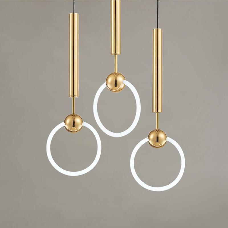 <b>postmodern Nordic</b> led circle <b>pendant</b> light dining room bar corridor ...