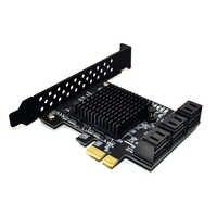 Marvell 88SE9215 puce 6 ports SATA 3.0 à PCIe carte d'extension PCI express SATA adaptateur SATA 3 convertisseur avec dissipateur de chaleur pour HDD