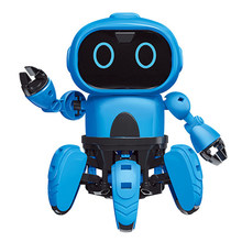 Electric Toy For Children Gesture Sensing Kids Gifts Remote Control Robot Infrared Obstacle Avoidance Assembled DIY(China)