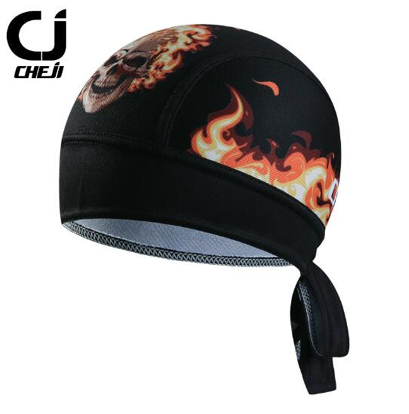 CHE JI Cycling Pirate Caps Perspiration Bandanas Ciclismo Headband Headwear Riding Cycling Bike Bicycle Cap Sports Headscarf Hat