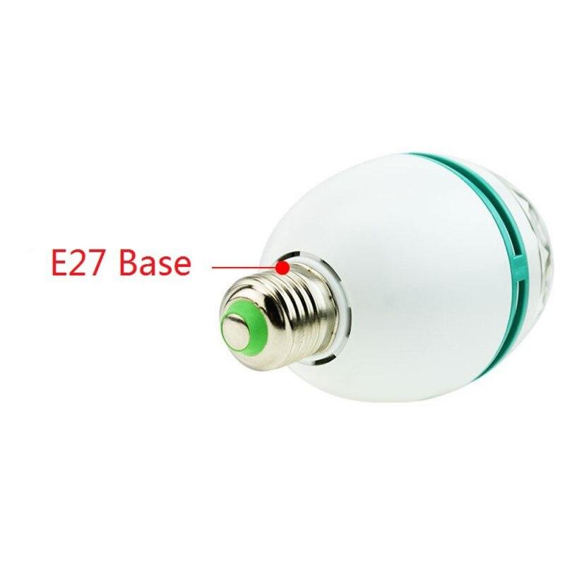 E27 B22 3 Вт 110 В-220 В красочные Авто вращающийся rgb проектор кристалл LED Свет этапа Magic Ball DJ эффект Дискотека лампы