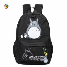 Lovely Totoro pokemon Canvas Backpacks Student School Bag Cartoon Print Rucksack Travel Pack Laptop Bag Big Strong Backpack недорго, оригинальная цена