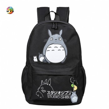 Lovely Totoro pokemon Canvas Backpacks Student School Bag Cartoon Print Rucksack Travel Pack Laptop Bag Big Strong Backpack totoro anime cosplay backpack ogino chihiro cartoon canvas travel backpacks shoulders school bag best students gifts