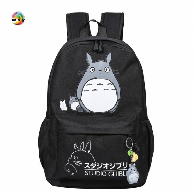 10bf4257aa Lovely Totoro pokemon Canvas Backpacks Student School Bag Cartoon Print  Rucksack Travel Pack Laptop Bag Big