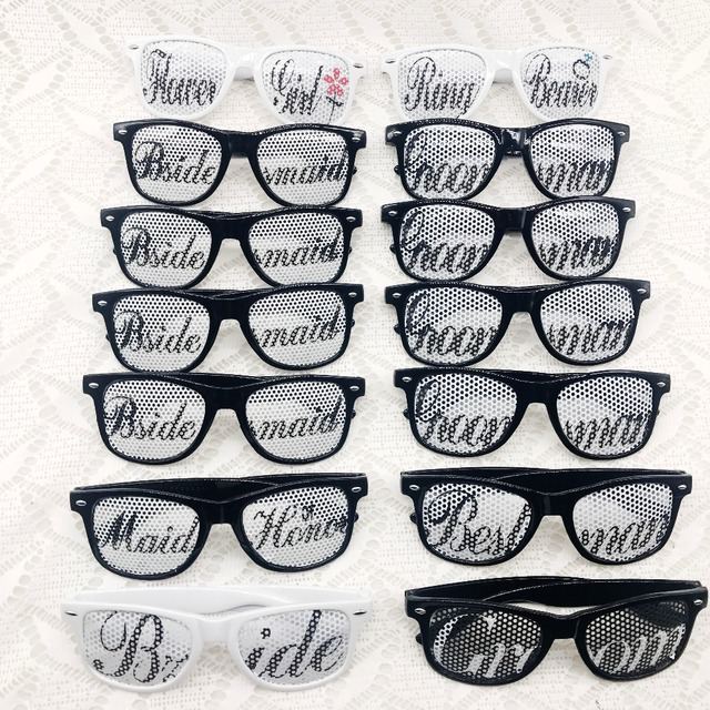 Bridal Party Wedding Party Sunglasses Sets Bride and Groom Team Ring ...