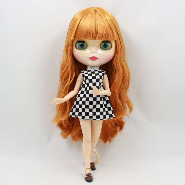 TBL Neo Blythe lutka naranđasta kosa spojena tijela