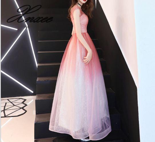Vestito femminile 2019 nuovo lungo delle signore di temperamento sottile del partito di banchetto elegante abito elegante-in Abiti da Abbigliamento da donna su  Gruppo 3
