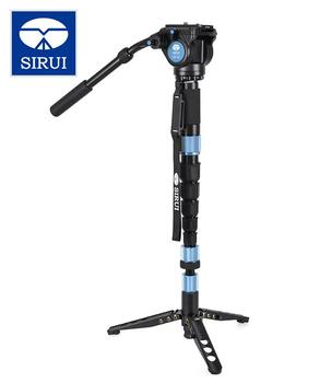 Sirui p-426sr vh-10 carbon fibre multifunction inclinador video-monopod Tripod