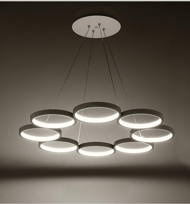 Mode acrylique suspension lampe Simple moderne suspension luminaire design luminaria pendente lustres para quarto