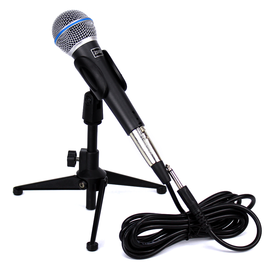 Professional Vocal Mic Wired Dynamic Microphone Stand 6 5mm Audio Cable For BETA58A Karaoke Mixer KTV