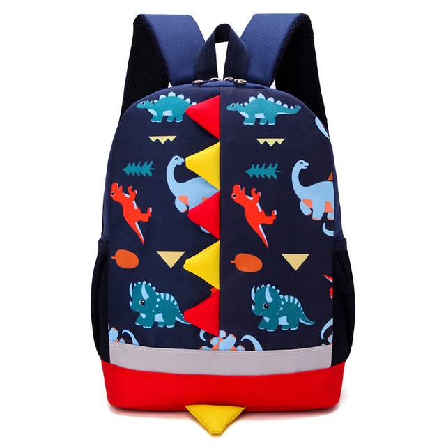4842ffbcd435 Cute Kids School Bags Cartoon Dinosaur Baby Backpack for Kindergarten Boys  Girls Travel Backpacks Toddler Children Bag