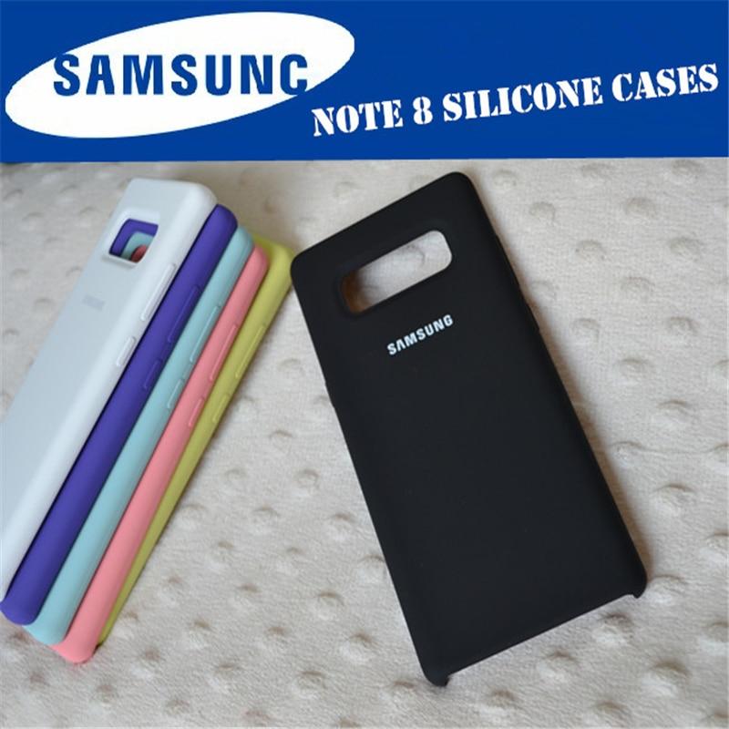 100% D'origine Samsung Cas de Couverture de Silicone pour Samsung Galaxy Note 8 N9500 N950F 7 couleur Anti-Protection Contre L'usure
