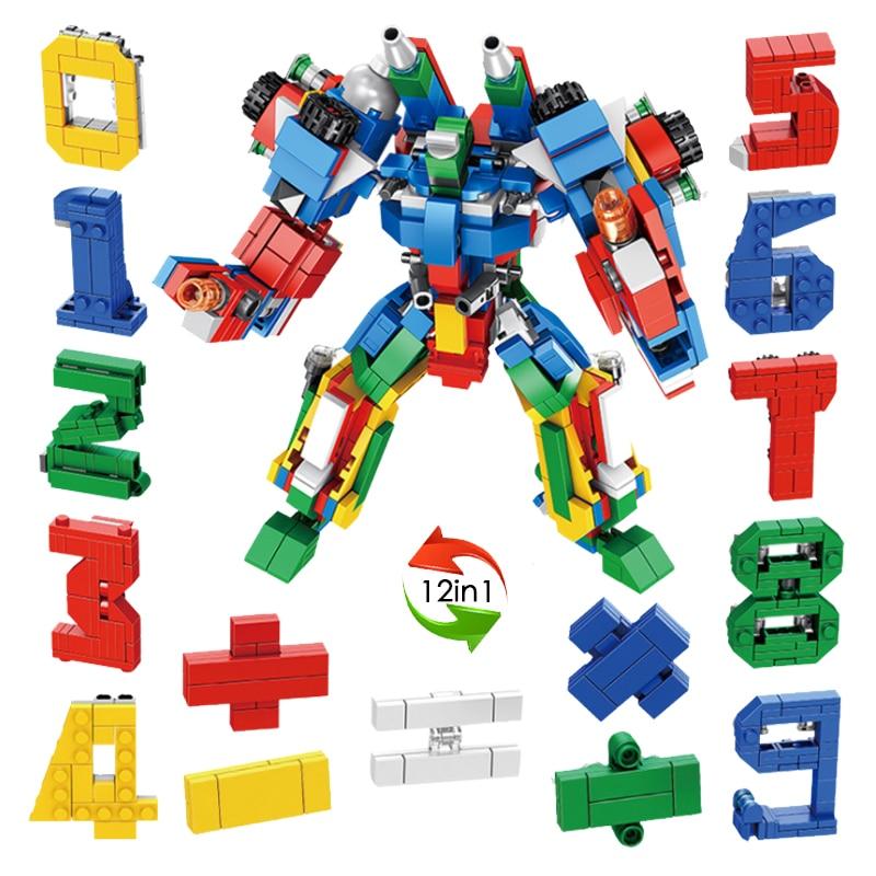 Blocks Contemplative Legoing Creator Digital Robot Series 570pcs 12in1 Model Bricks Blocks Educational Toys Diy Compatible Legoings Creative Sets Toys & Hobbies