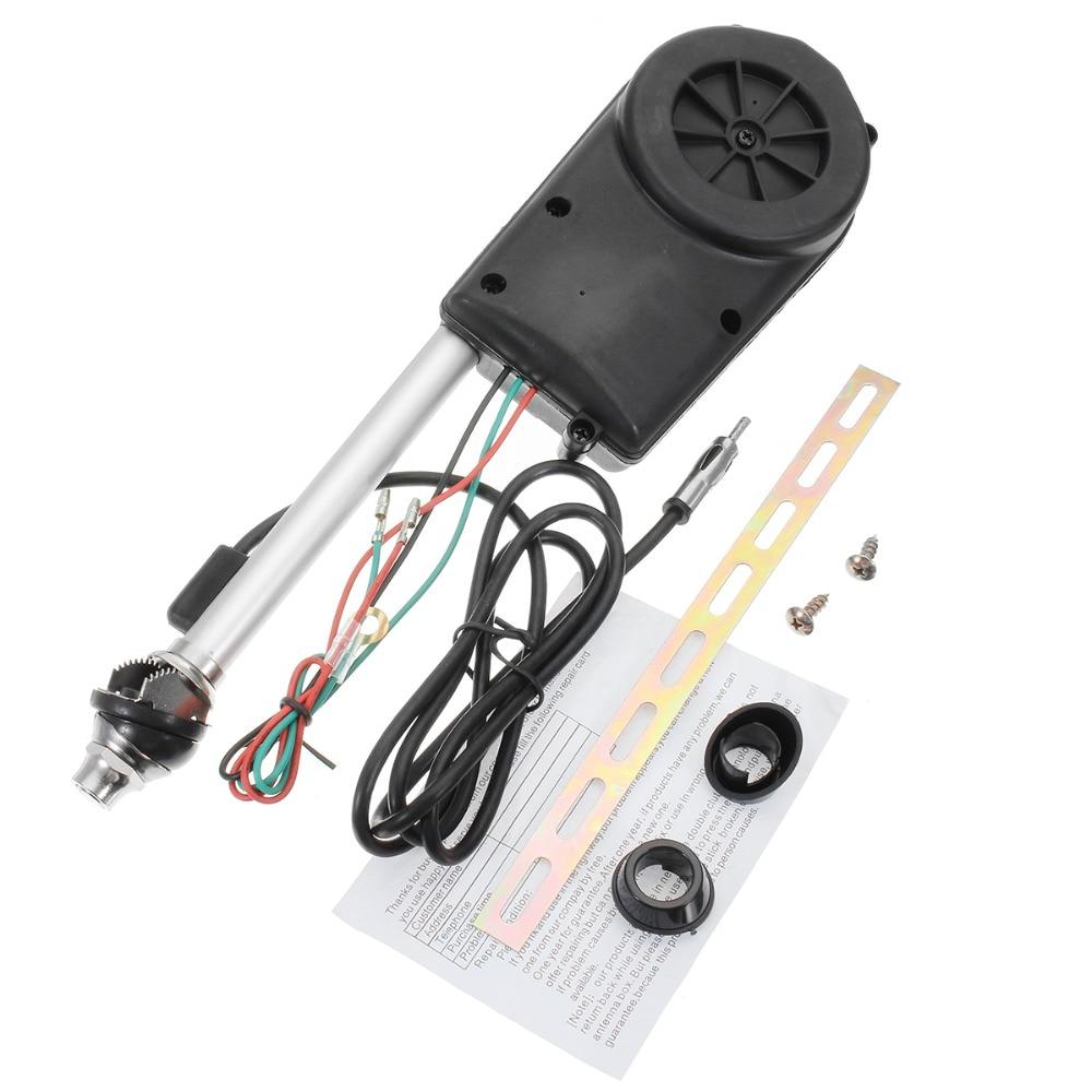 Универсальная Выдвижная антенна, автомобильная антенна, электрическое радио Carro 12 В FM/AM, автоматический усилитель сигнала, усилитель, автом