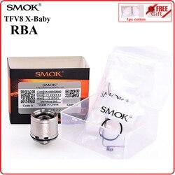 سموك أصلي TFV8 X-BABY RBA لفائف رئيس 0.35ohm المقاومة الإلكترونية السجائر الأساسية ل XBABY المرذاذ V8 X-BABY الملحقات