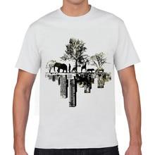 White T Shirt Short  2017 Sketch 3D Print Cartoon T Shirt Cotton Tee Fashion O-Neck Casual Tops Tee  XQ-6