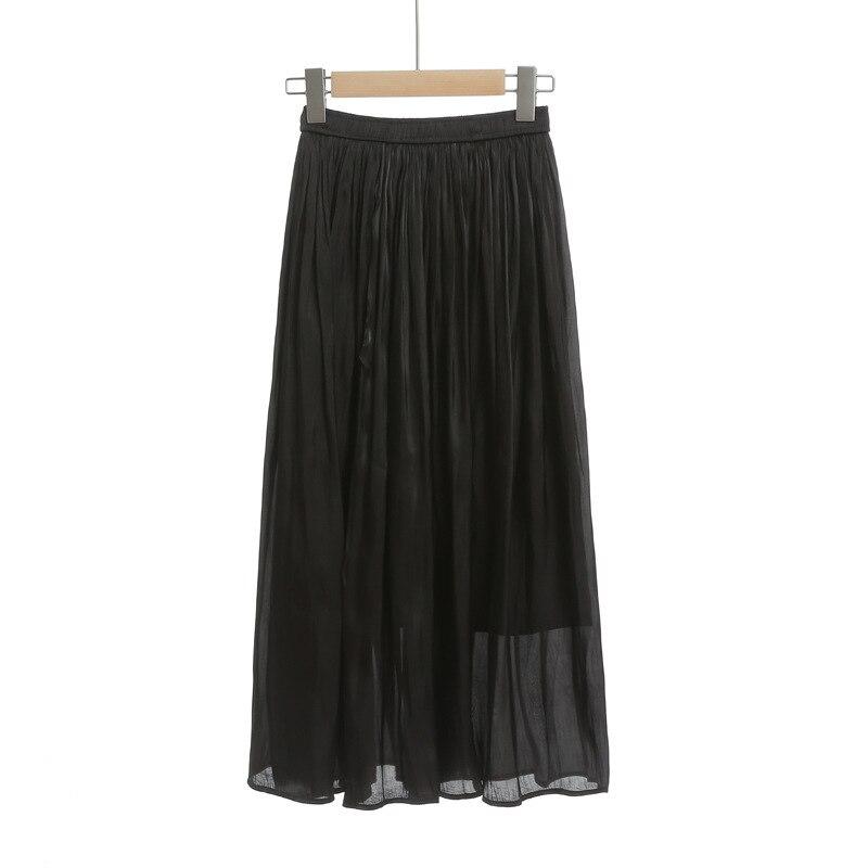 Mercerizing Texture Crimp Pleated Spring Xia Xinkuan Flash Of Light High Waist Half-body Leisurely Type Skirt 6