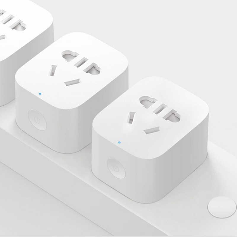 Xiaomi MIJIA inteligentny bezprzewodowy WIFI gniazdo wtykowe ZigBee wersja ulepszona zdalnego sterowania przełącznik Power liczenie pomoc bramka