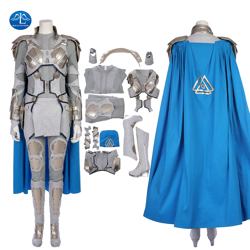 ManLuYunXiao Movie Thor Ragnarok Cosplay Women Valkyrie Cosplay Costume Halloween Costumes For Women Full Set Outfit Custom Made