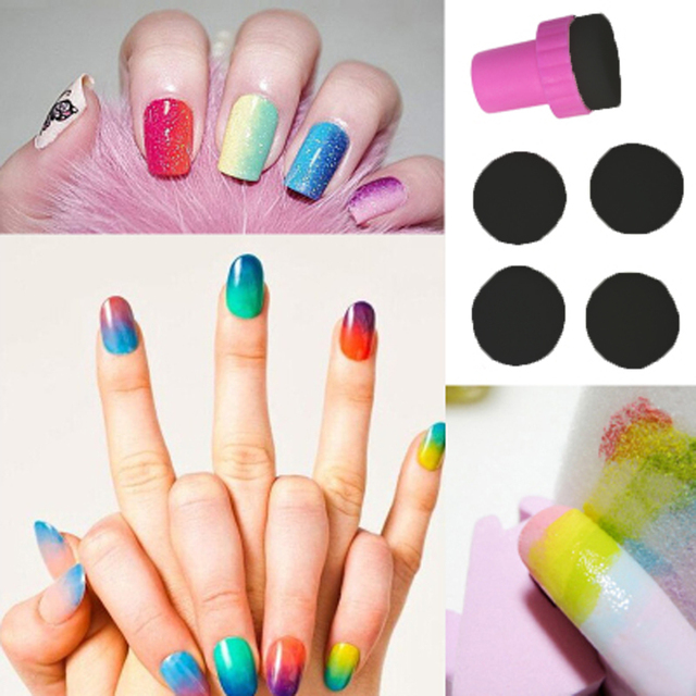 Nail Art Makeup Styling Tools Manicure Sponge Ster Grant Color Diy Creative Accessories