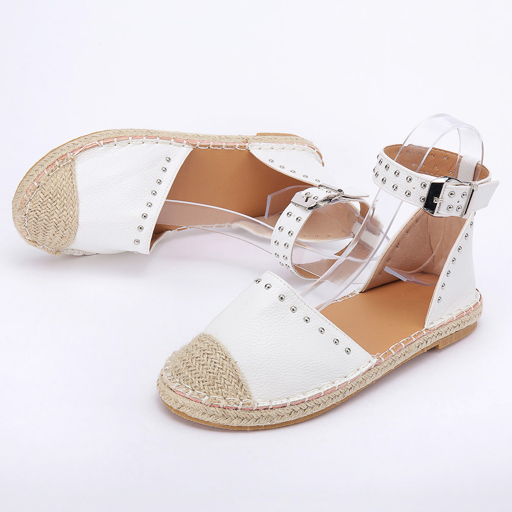 Flat Sandals Shoe Strap Gladiador Fashion New Woven Feminina Buckle Ladaies