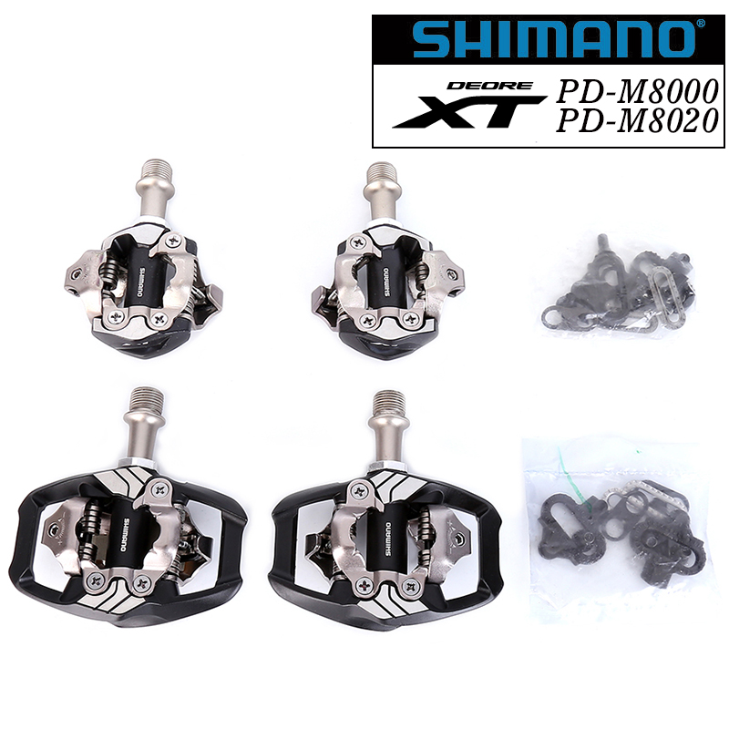 shimano DEORE XT PD-M8000 PD-M8020 Self-Locking SPD Pedals MOUNTAIN BIKE XC SPD RACE PEDAL M8000 M8020 uptade from M780 M785 shimano deore xt pd m8000 m8020 self locking spd pedal mtb components for bicycle racing mountain bike parts pd m8000 edals