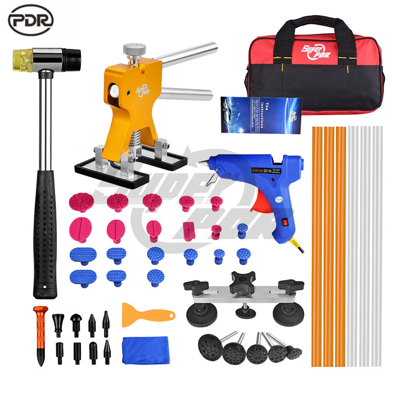 PDR Tools Paintless Dent Repair Removal Dent Lifter Bridge Puller 100v-240v Glue Gun Hail Repair Set  цены