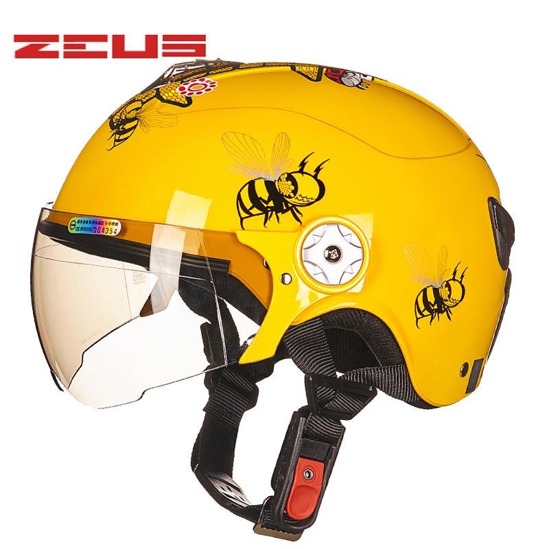 ZEUS S size motorcycle helmet child Four Seasons Half Face Motorcycle Electric Bicycles Helmets for children