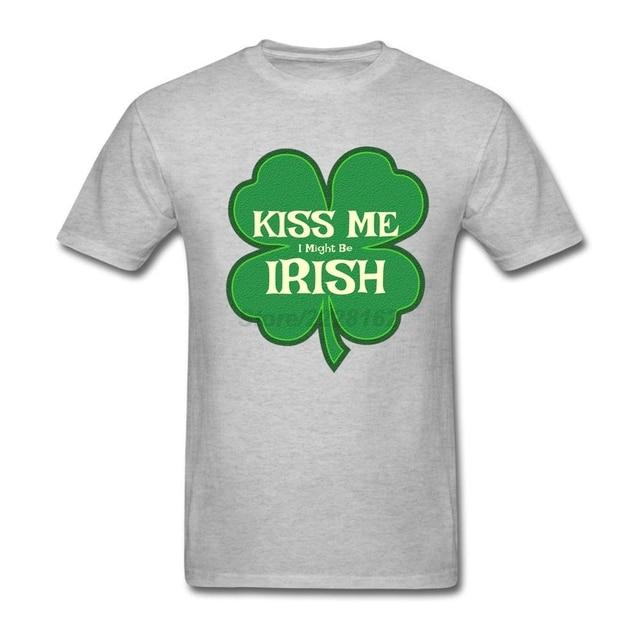 Men S Kiss Me I Might Be Irish T Shirt Luxury Best Quality Pop Grunge